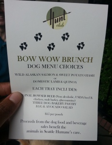 Bow wow brunch seattle humane dog event fundraiser